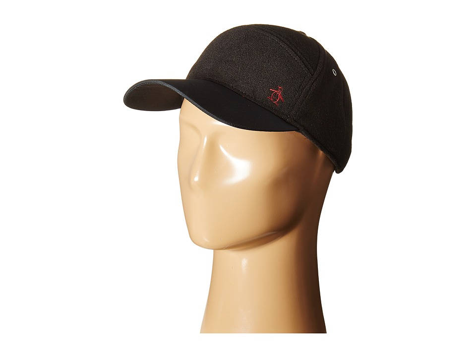 Original Penguin - Melton Wool Baseball Cap (Black) Baseball Caps