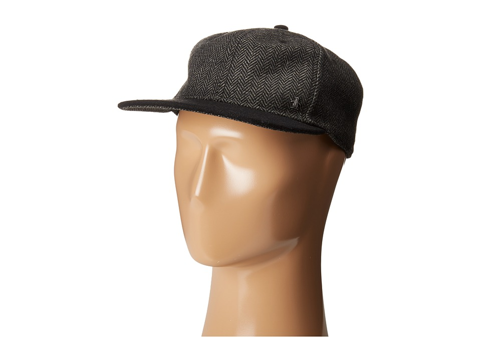 Original Penguin - Wool Herringbone Dad Cap (Charcoal) Caps