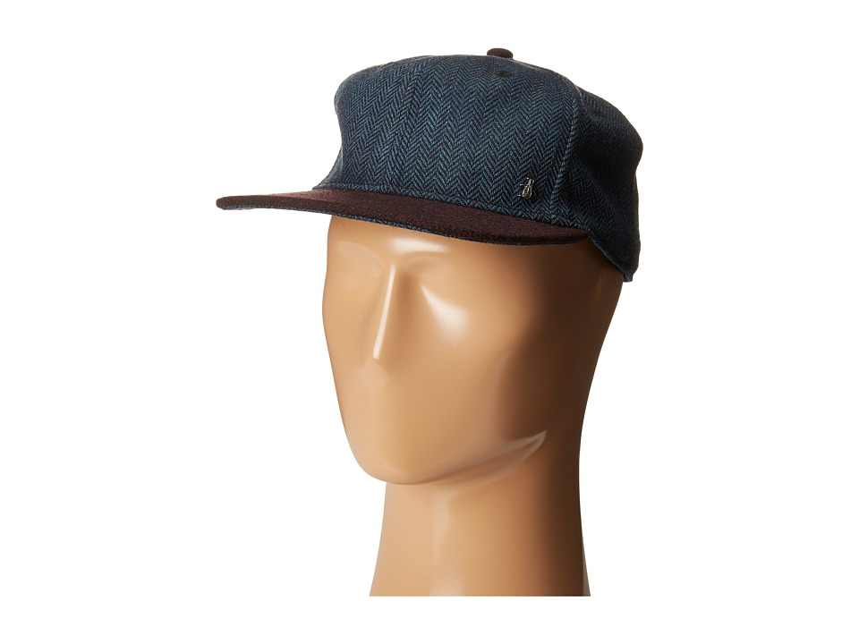 Original Penguin - Wool Herringbone Dad Cap (Dark Sapphire) Caps