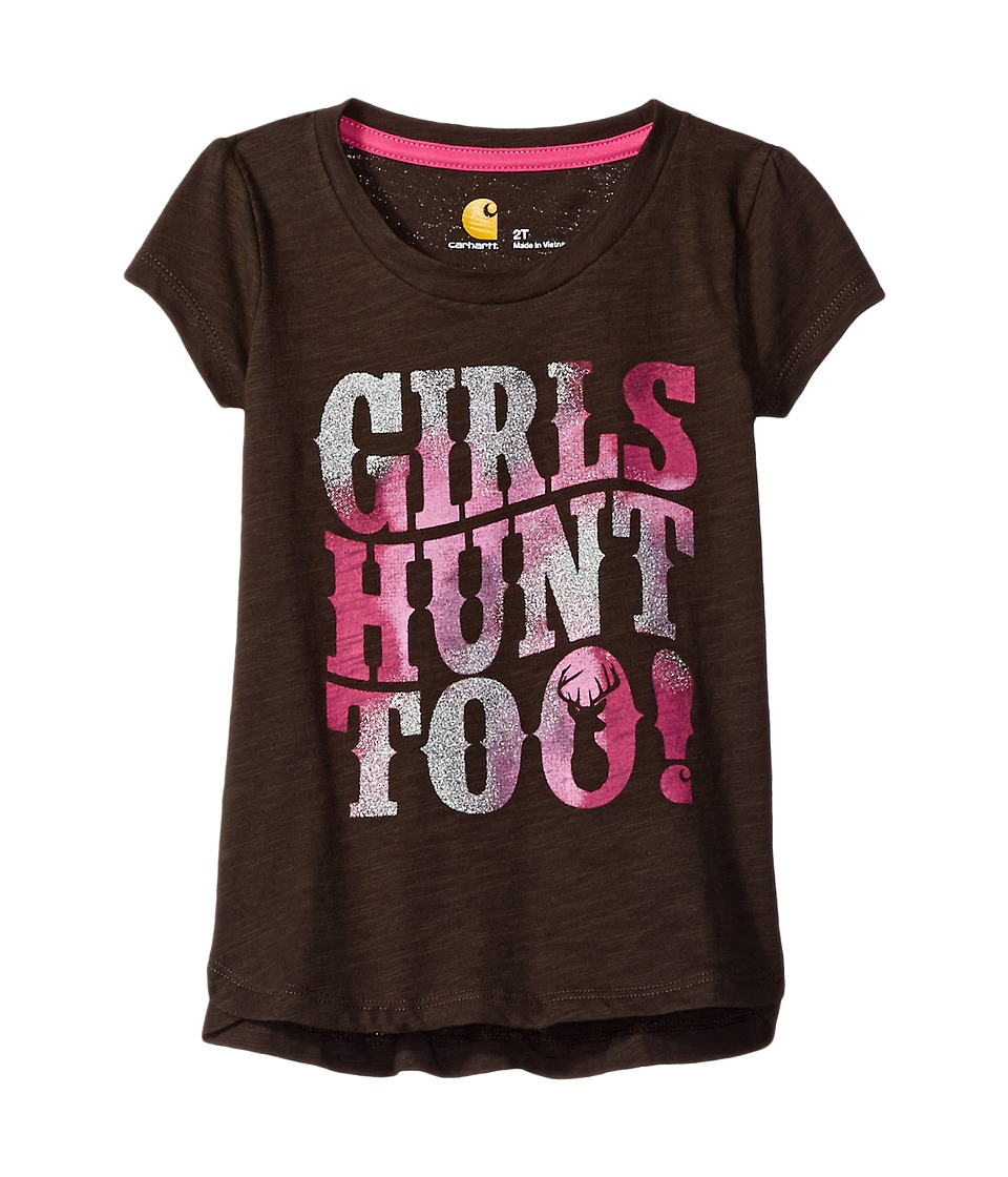 Carhartt Kids - Hunt Too Tee (Toddler) (Mustang Brown) Girl's T Shirt