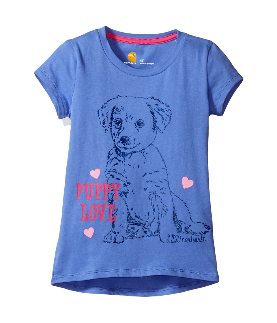 Carhartt Kids - Puppy Love Tee (Toddler) (Baja Blue) Girl's T Shirt
