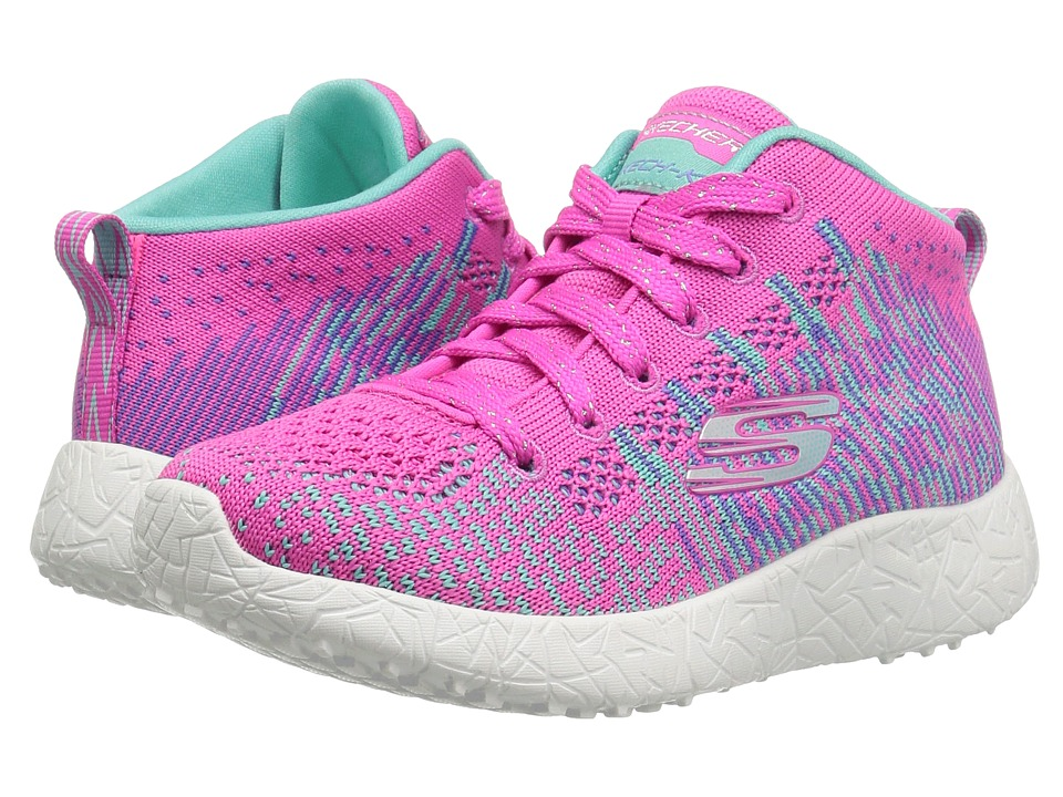 SKECHERS KIDS - Energy Burst - Sweet Symphony 81909L (Little Kid/Big Kid) (Hot Pink/Turquoise) Girl's Shoes