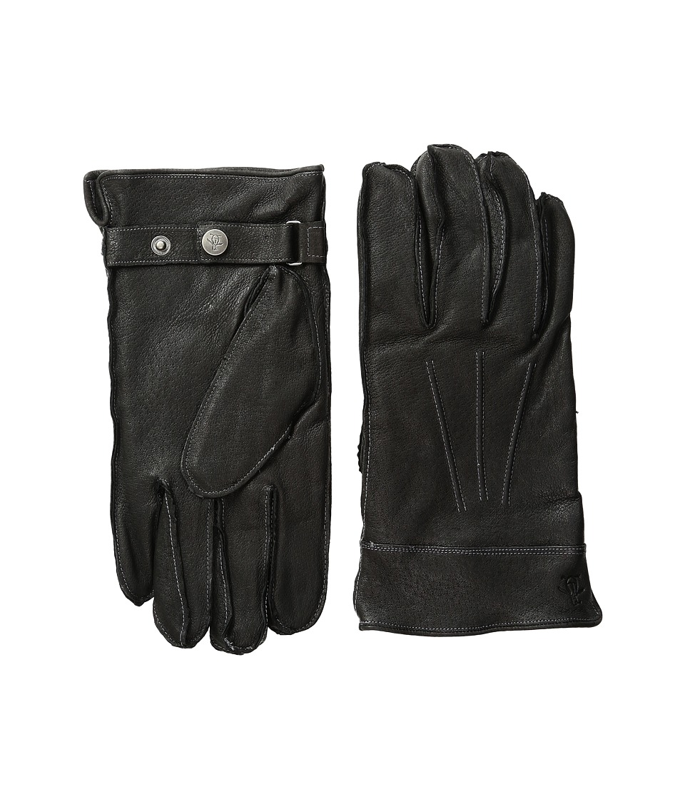 Original Penguin - Leather Gloves with Darts (Black) Extreme Cold Weather Gloves