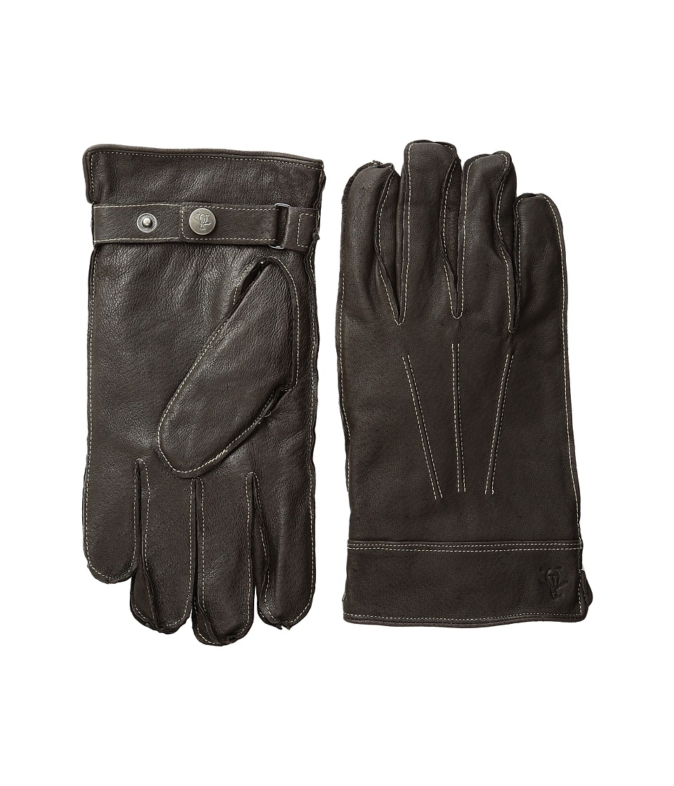 Original Penguin - Leather Gloves with Darts (Brown) Extreme Cold Weather Gloves