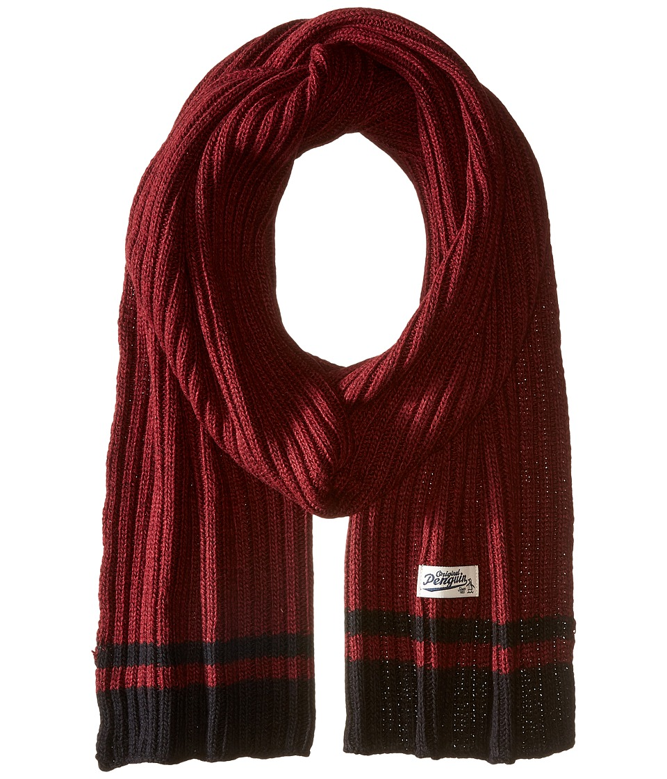 Original Penguin - Chunky Knit Scarf (Beet Red) Scarves