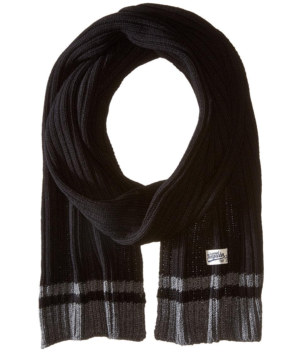 Original Penguin - Chunky Knit Scarf (Black) Scarves
