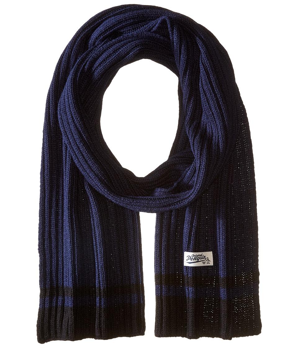 Original Penguin - Chunky Knit Scarf (Dark Sapphire) Scarves