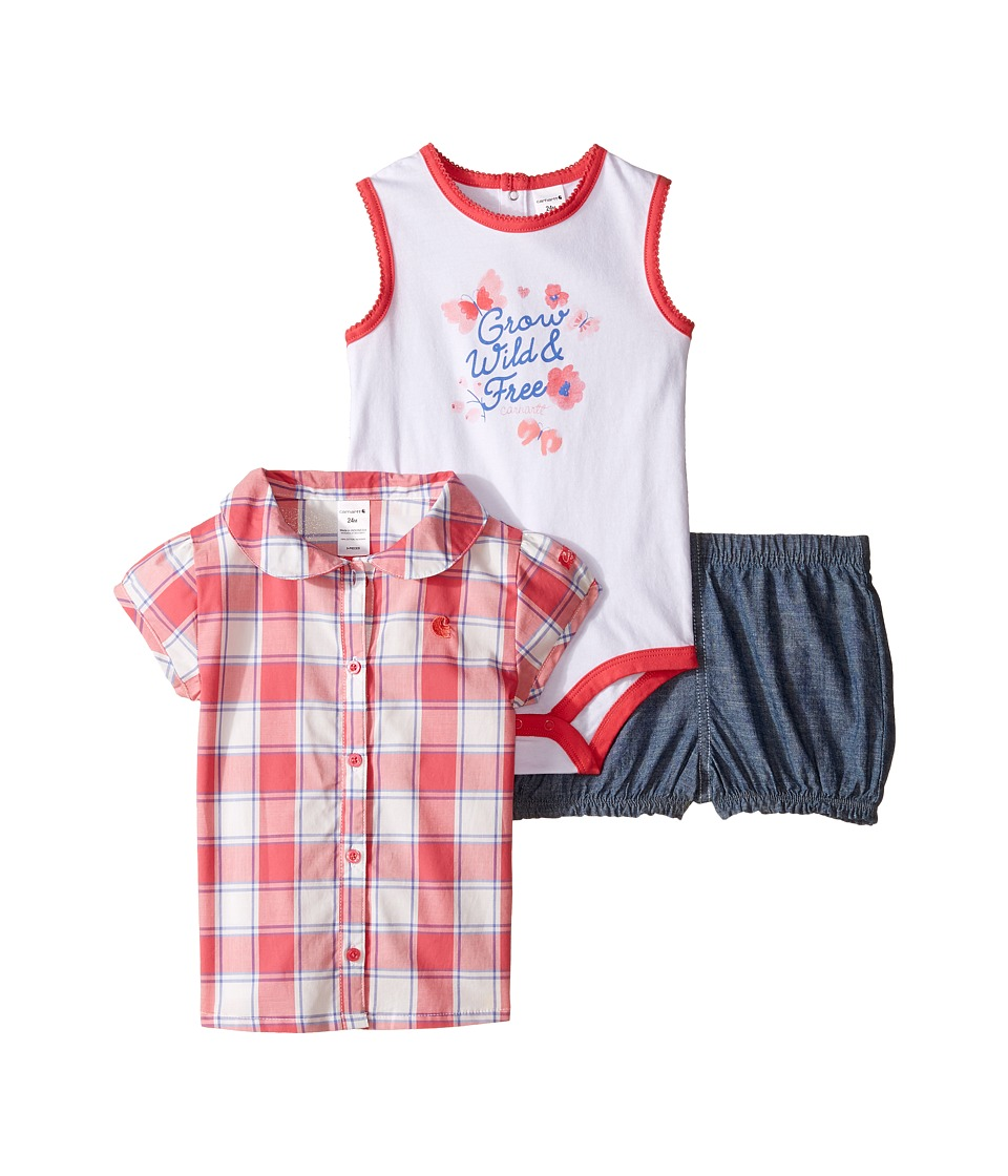 Carhartt Kids - Three-Piece Gift Short Set (Infant) (Classic Wash) Girl's Active Sets