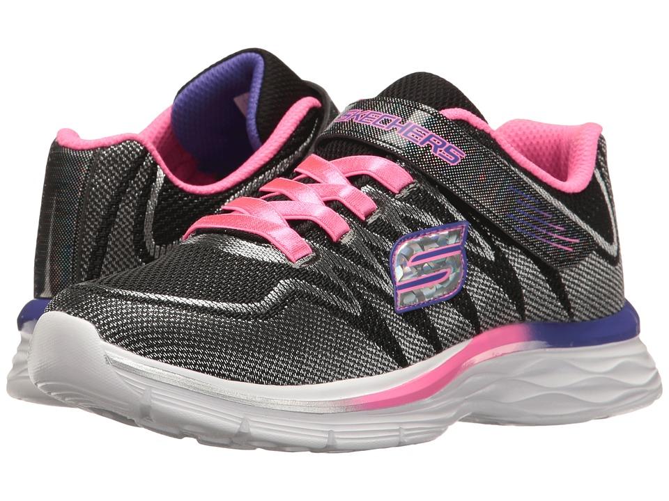 SKECHERS KIDS - Dream N' Dash 81131L (Little Kid/Big Kid) (Black/Lavendar/Pink) Girl's Shoes