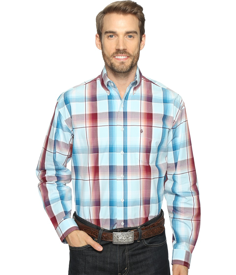 Stetson - 0821 Wine Water Ombre Button (Wine) Men's Clothing