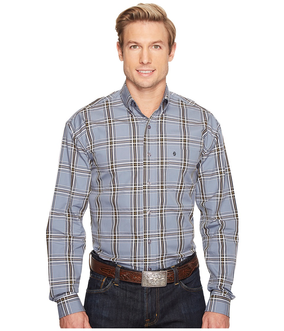 Stetson - 0824 Prospect Check Button (Grey) Men's Clothing