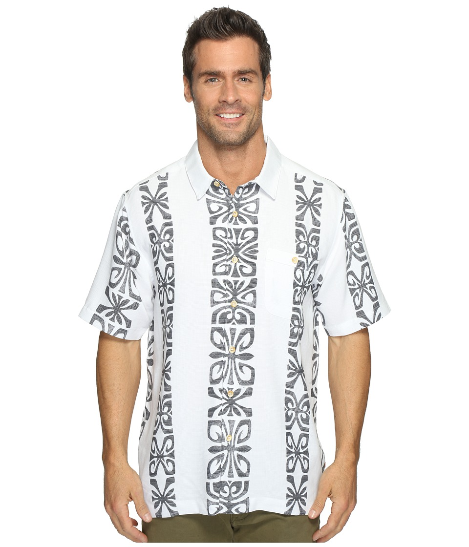 Quiksilver Waterman - Tribal Rave Short Sleeve Shirt (White) Men's Clothing