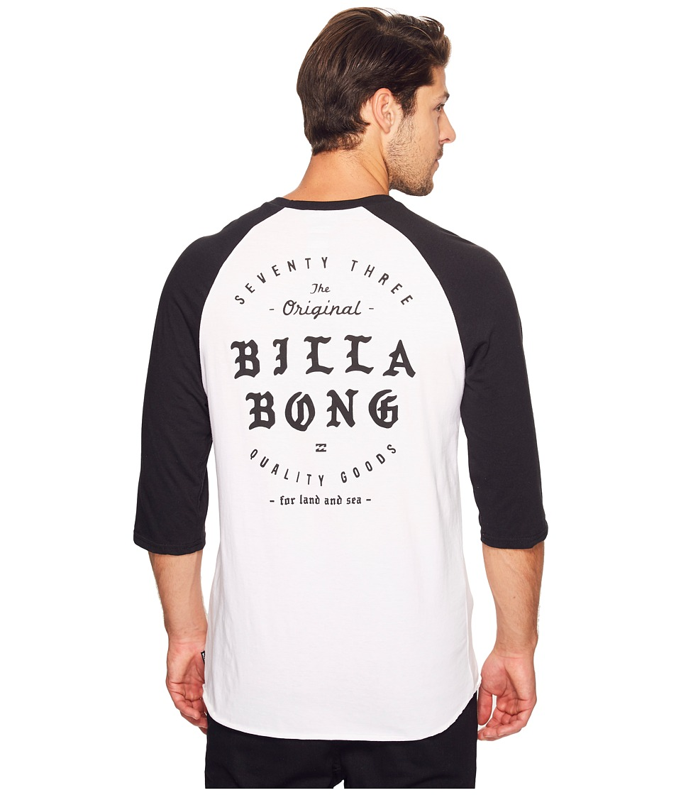 Billabong Beacon Printed T-Shirt (White/Black) Men