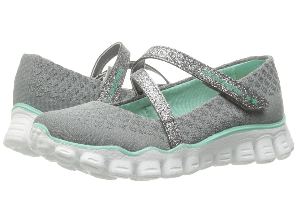 SKECHERS KIDS - Skech Flex II - Softie Sweet 81245L (Little Kid/Big Kid) (Grey/Multi) Girl's Shoes