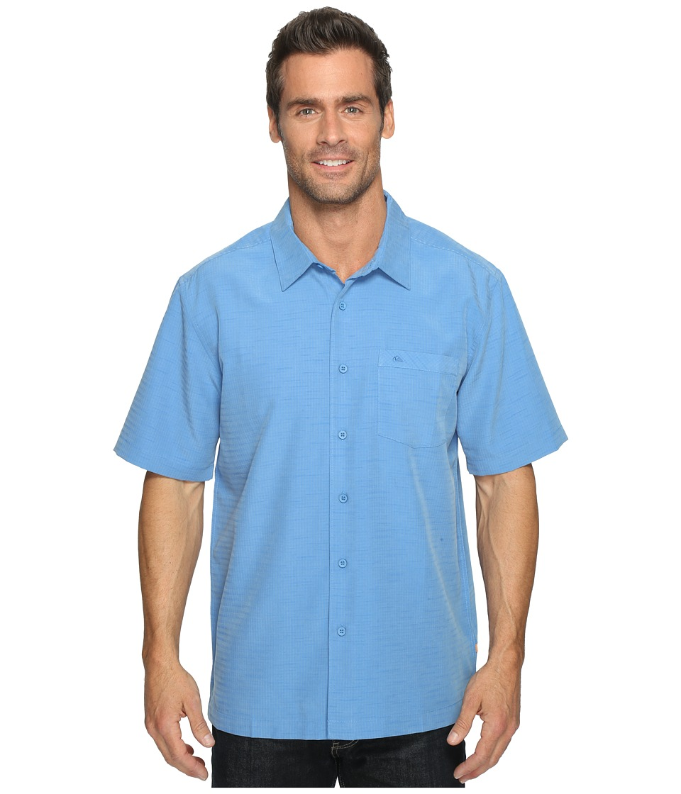 Quiksilver Waterman - Centinela 4 Traditional Polynosic Woven Top (Strong Blue) Men's Clothing