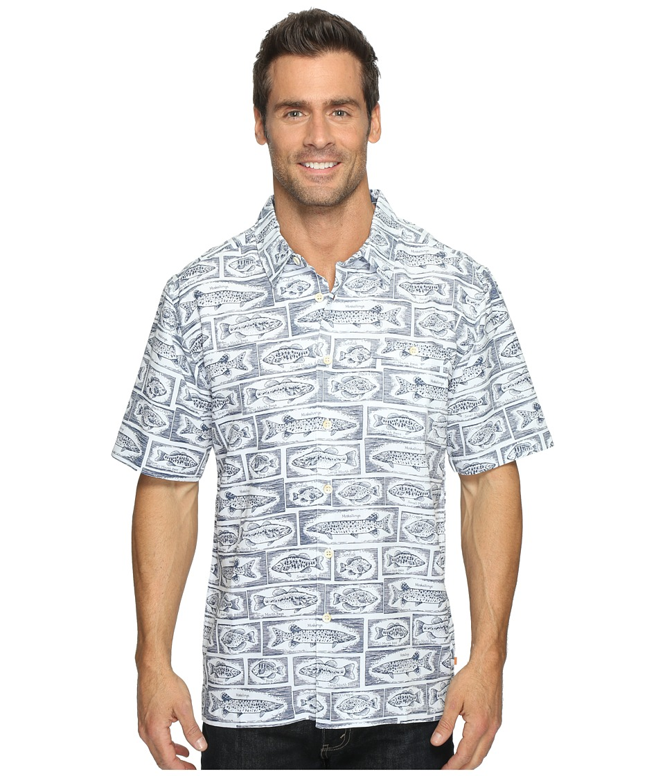 Quiksilver Waterman - Bump the Stump (Major Blue) Men's Short Sleeve Button Up