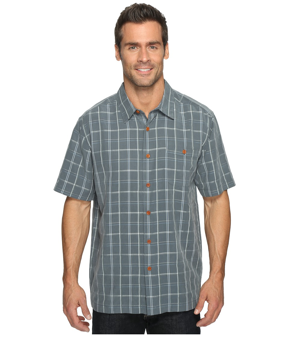 Quiksilver Waterman - Crows Nest Short Sleeve Shirt (Dark Slate) Men's Clothing