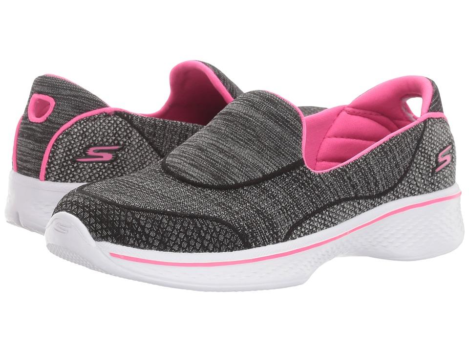 SKECHERS KIDS - Go Walk 4 81136L (Little Kid/Big Kid) (Black/Hot Pink) Girl's Shoes