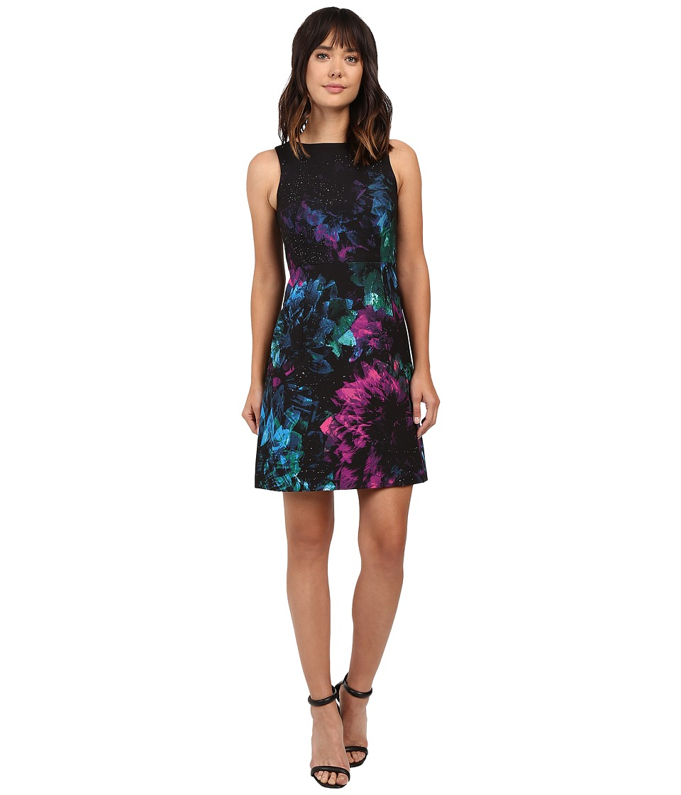 Ellen Tracy - Fitted A-Line Dress (Faceted Multi) Women's Dress
