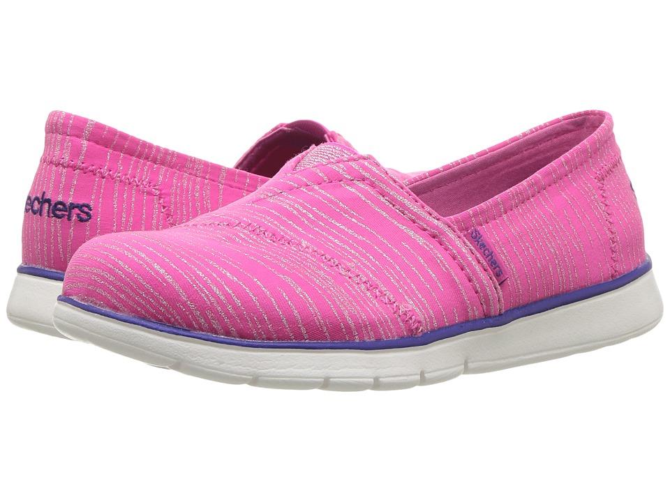 SKECHERS KIDS - Pure Flex 85623L (Little Kid/Big Kid) (Hot Pink/Purple) Girl's Shoes