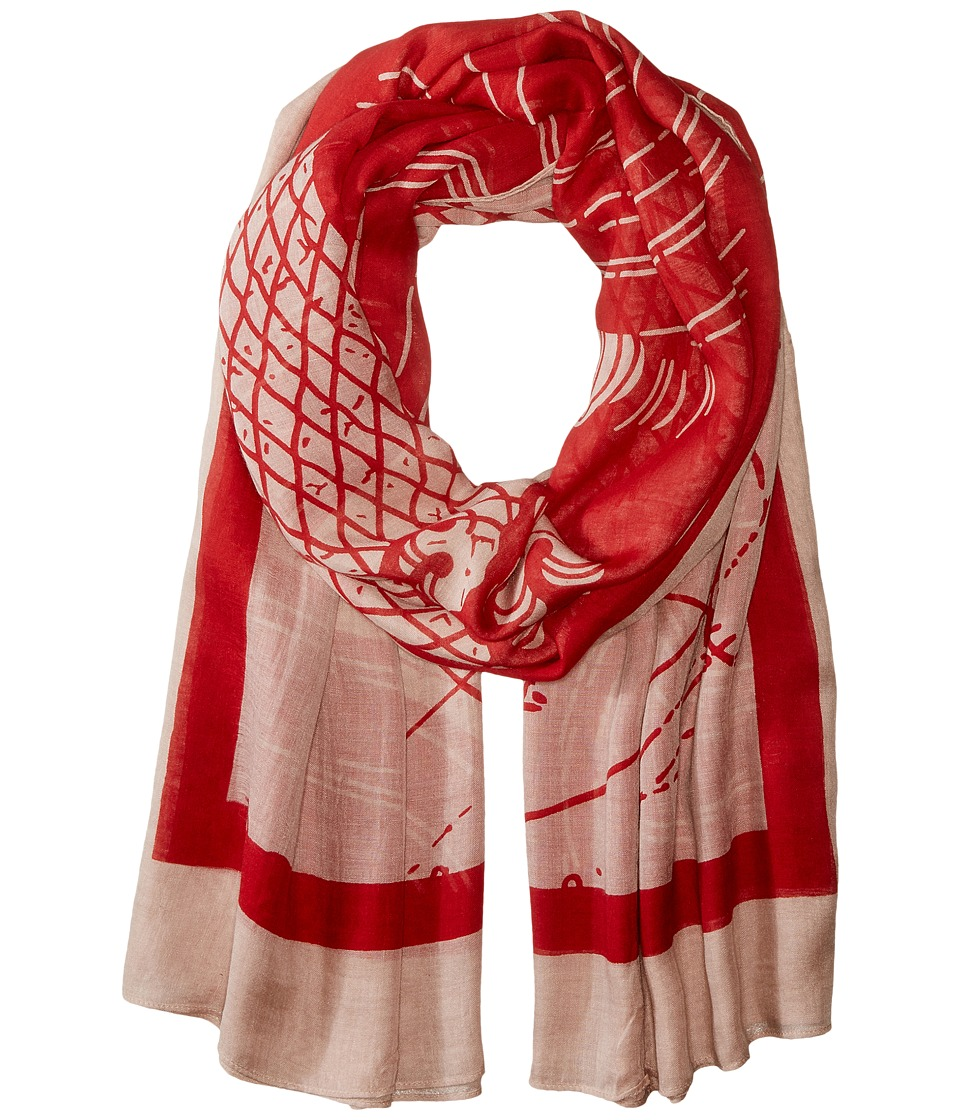 Liebeskind - Wave Scarf (Cherry Blossom Red Wave) Scarves