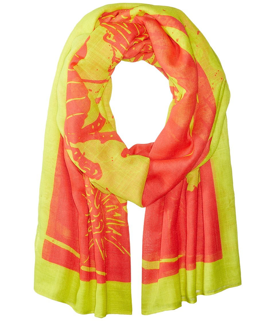 Liebeskind - Dragon Scarf (Burning Pink Dragon) Scarves