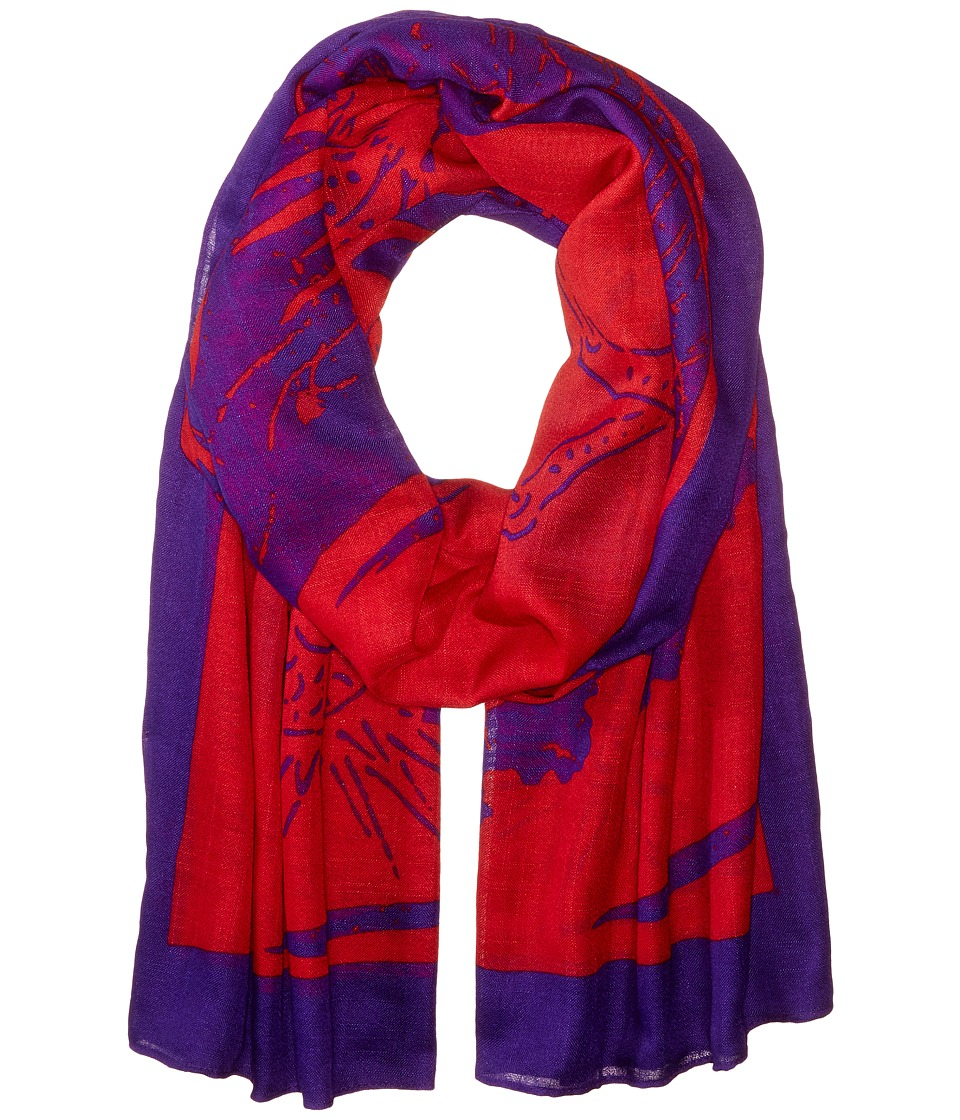 Liebeskind - Dragon Scarf (Cherry Blossom Red Dragon) Scarves