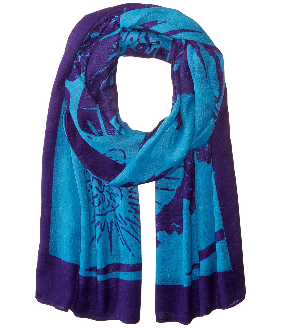 Liebeskind - Dragon Scarf (Vibrant Blue Dragon) Scarves