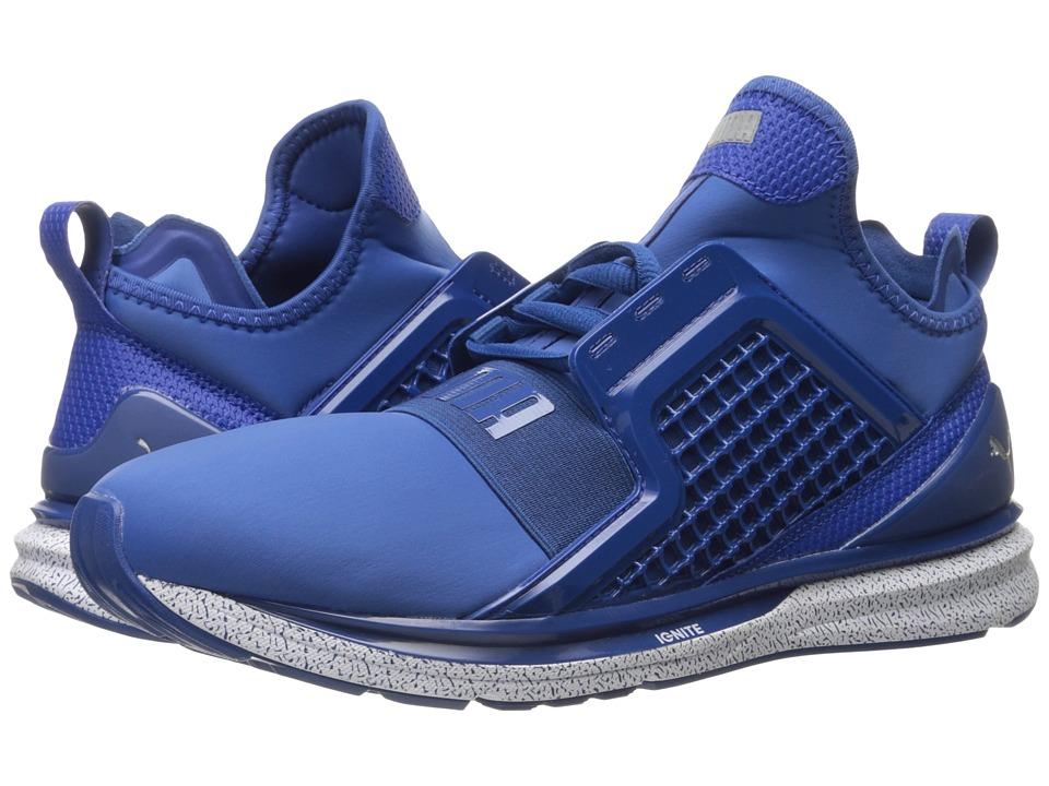 PUMA - Ignite Limitless Snow Splatter (True Blue) Men's Running Shoes