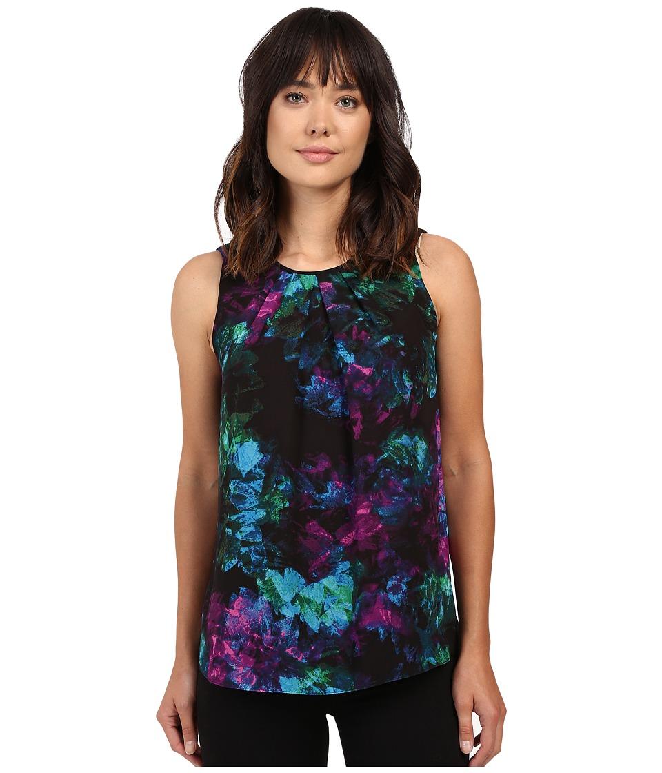 Ellen Tracy - Gathered Neckline Shell (Gemstone Multi) Women's Clothing