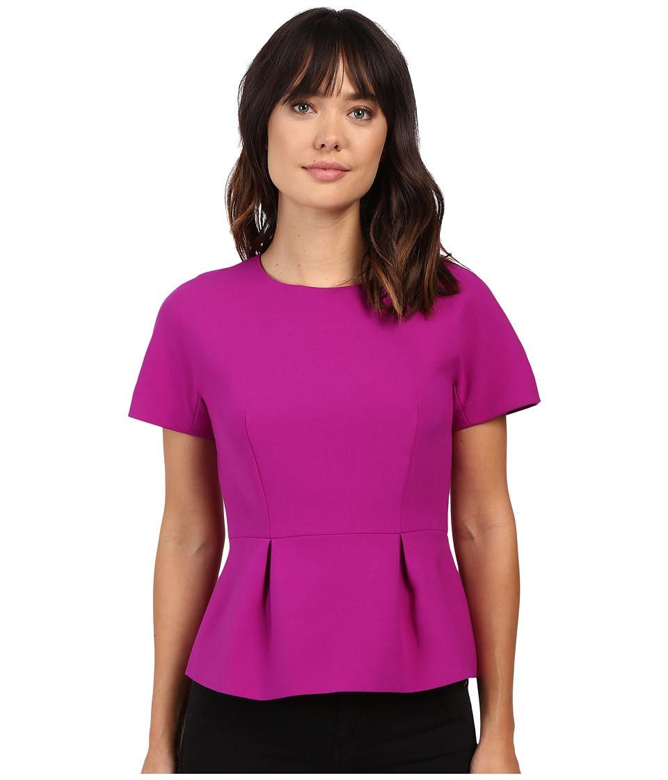 Ellen Tracy - Structured Peplum Top (Fuchsia) Women's Clothing