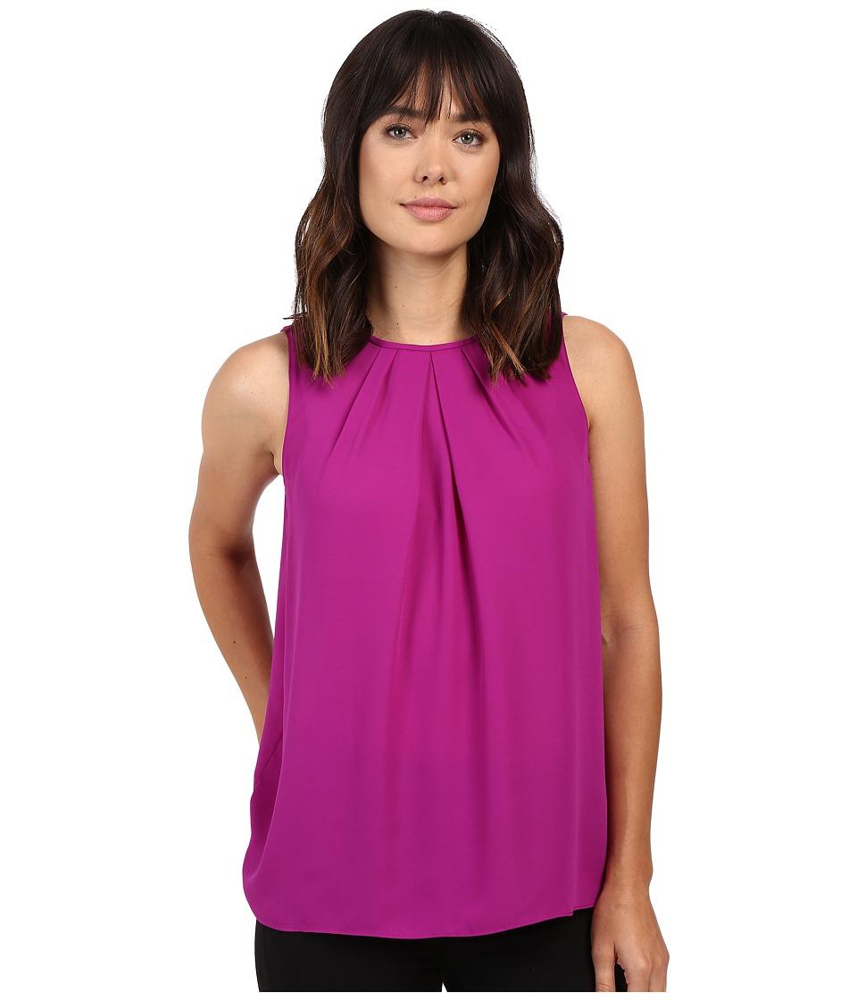 Ellen Tracy - Gathered Neckline Shell (Fuchsia) Women's Clothing