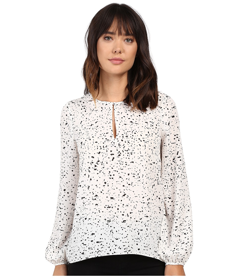 Ellen Tracy - Bishop Sleeve Blouse (Jeweled E-Cream) Women's Blouse