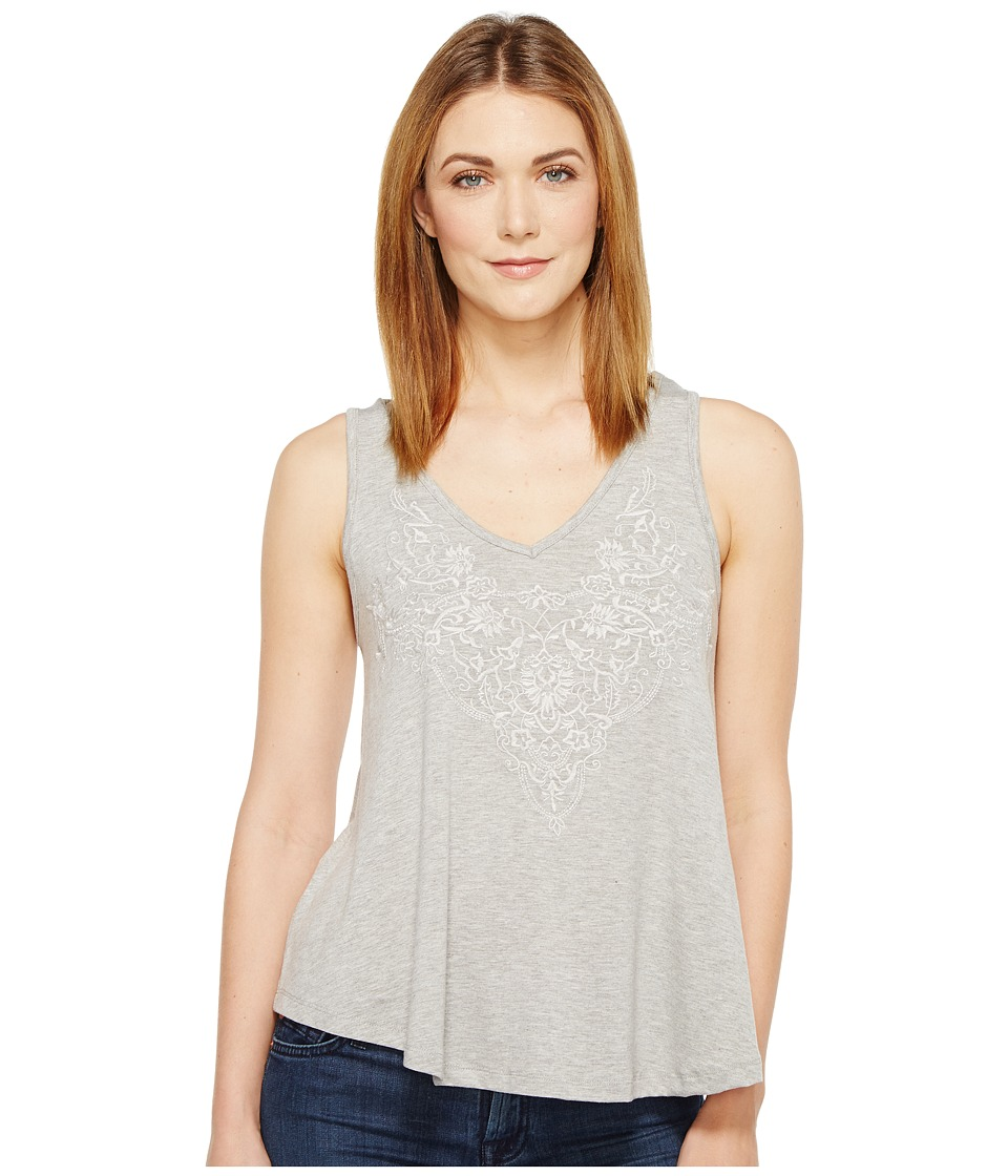 Stetson - 0910 Rayon Spandex Jersey V-Neck Tank Top (Grey) Women's Sleeveless
