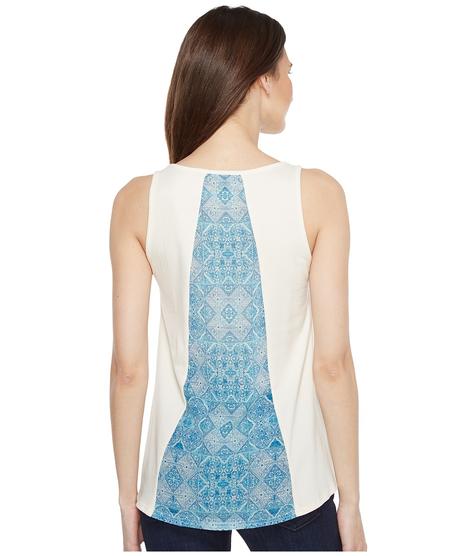 Stetson - 0910 Rayon Jersey Loose Fit Tank Top (White) Women's Sleeveless