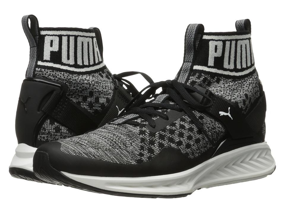 PUMA - Ignite evoKNIT (Puma Black/Quiet Shade/Puma White) Men's Running Shoes