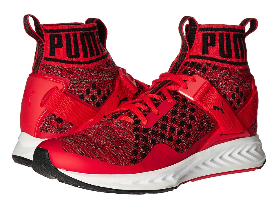 PUMA - Ignite evoKNIT (High Risk Red/Quiet Shade/Puma Black) Men's Running Shoes