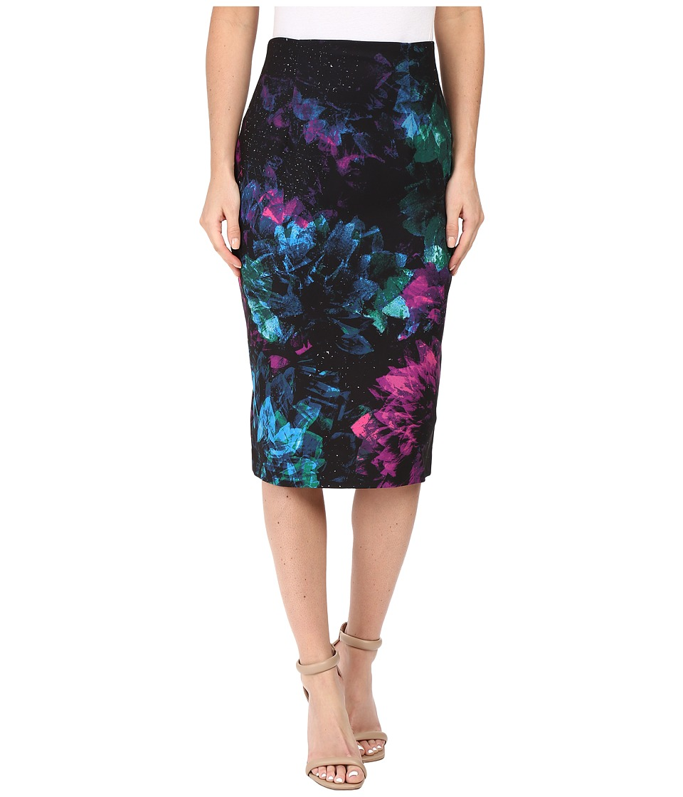 Ellen Tracy - High Waist Pencil (Faceted Multi) Women's Skirt