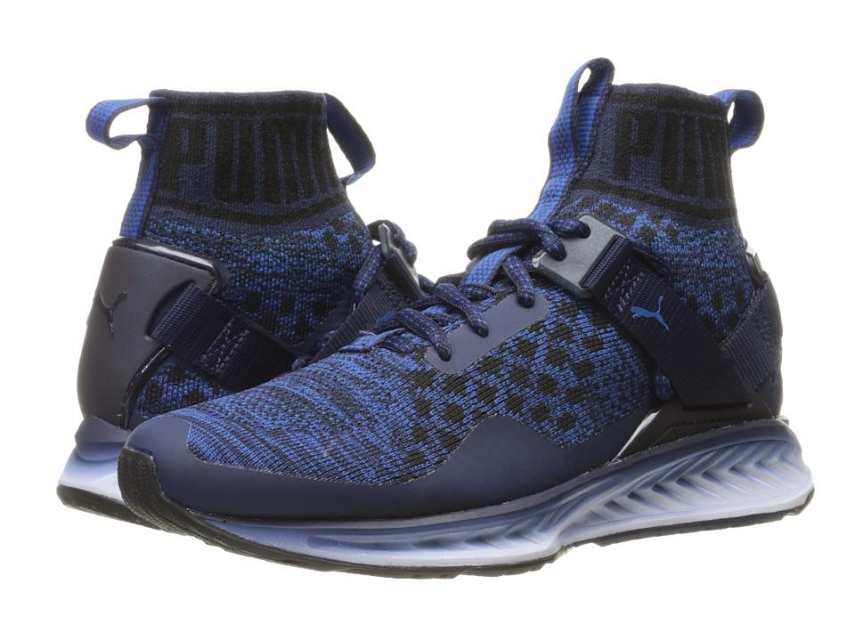 PUMA - Ignite evoKNIT Fade (Peacoat/Puma Black/True Blue) Men's Running Shoes