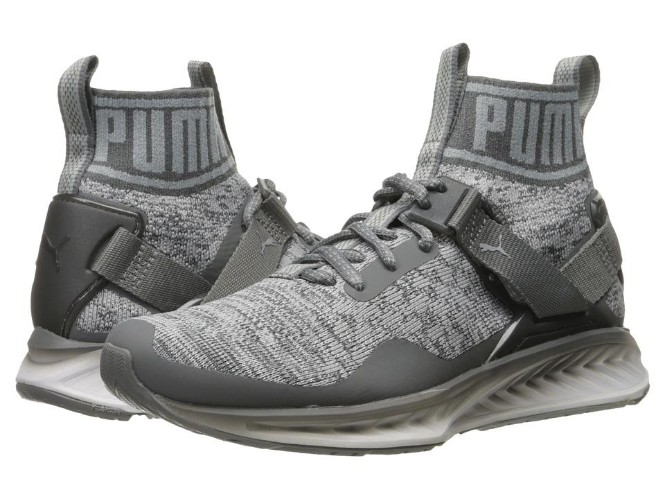 PUMA - Ignite evoKNIT Fade (Quiet Shade/Quarry/Puma White) Men's Running Shoes