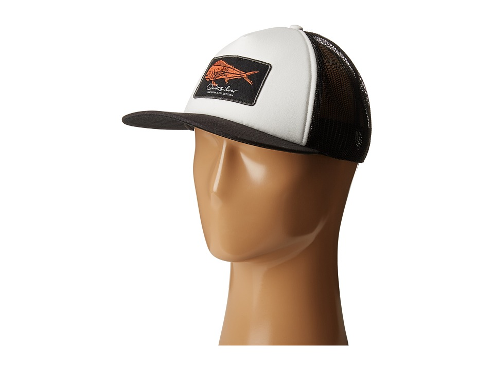 Quiksilver Waterman - Bulls Trucker Hat (White) Caps