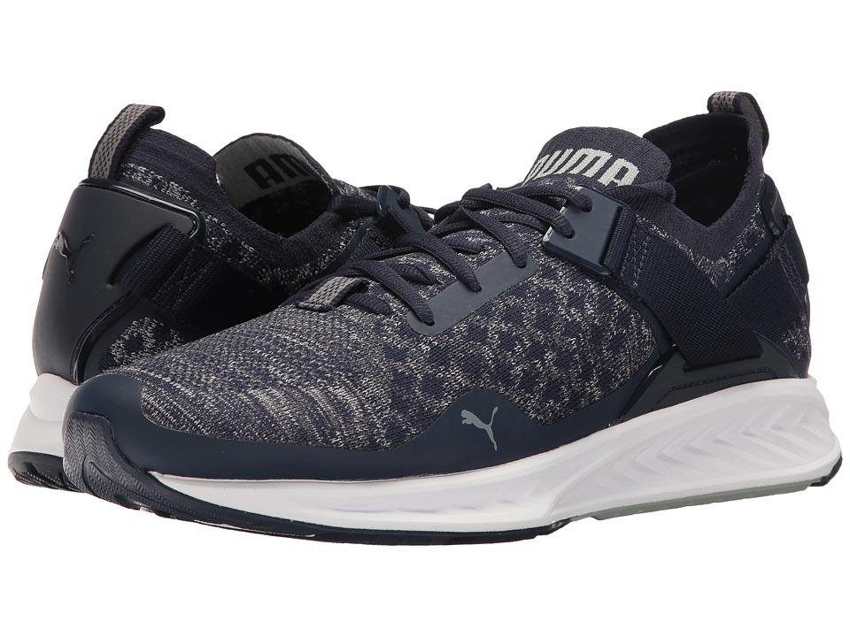 PUMA - Ignite evoKNIT Lo (Peacoat/Quarry/Quiet Shade) Men's Running Shoes