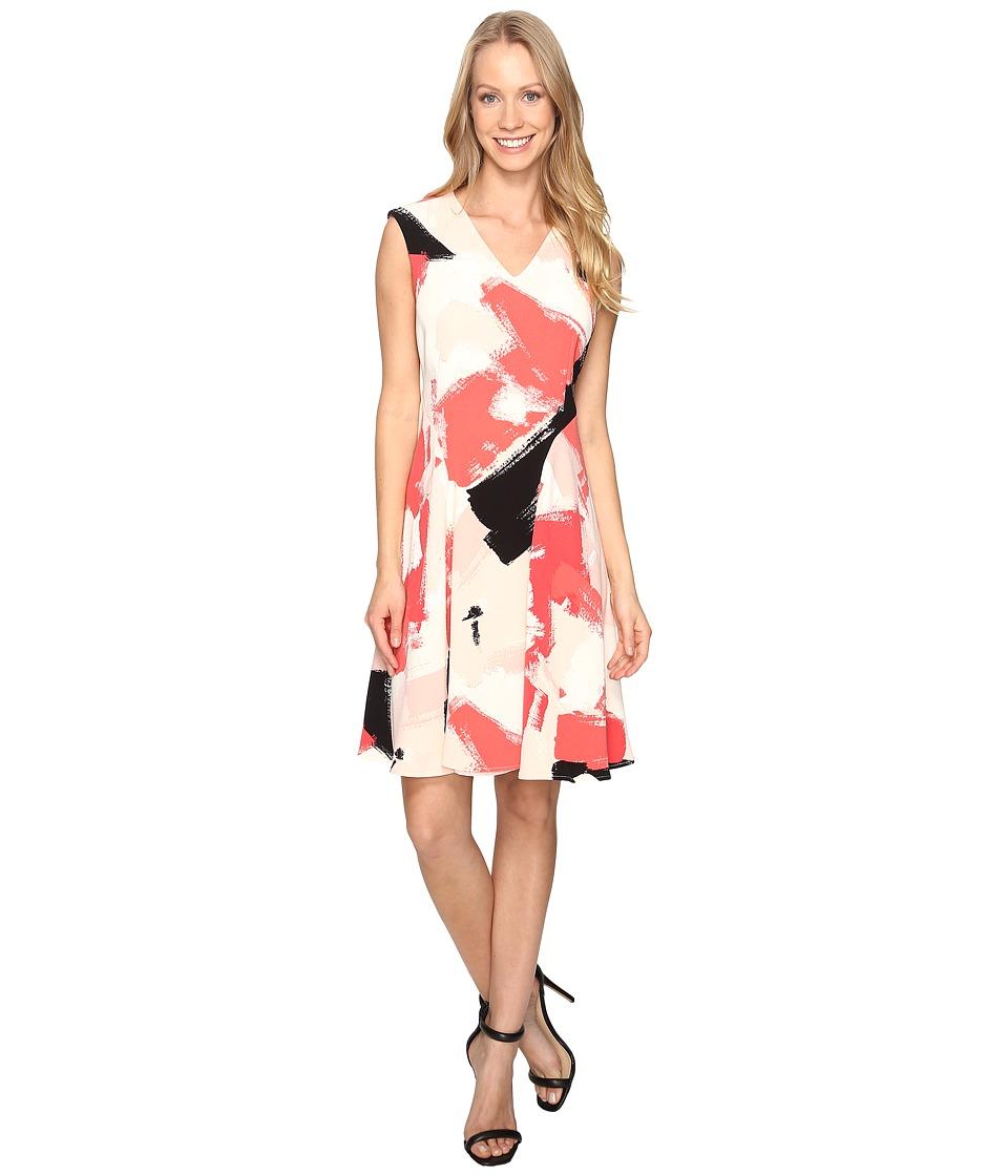 Ellen Tracy - Printed Soft-Fold Dress (Palette Multi) Women's Dress