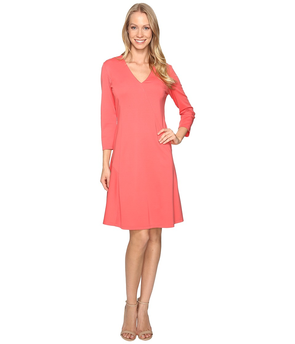 Ellen Tracy - Seamed A-Line Dress (Rose of Sharon) Women's Dress