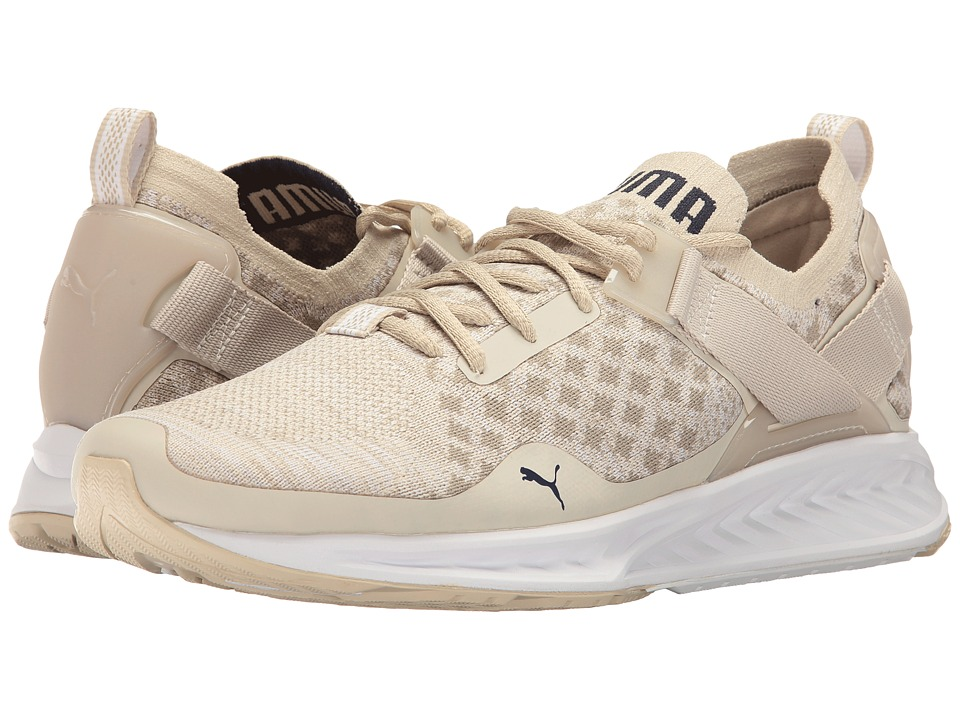 PUMA - Ignite evoKNIT Lo Pavement (Oatmeal/Vintage Khaki/Peacoat) Men's Running Shoes