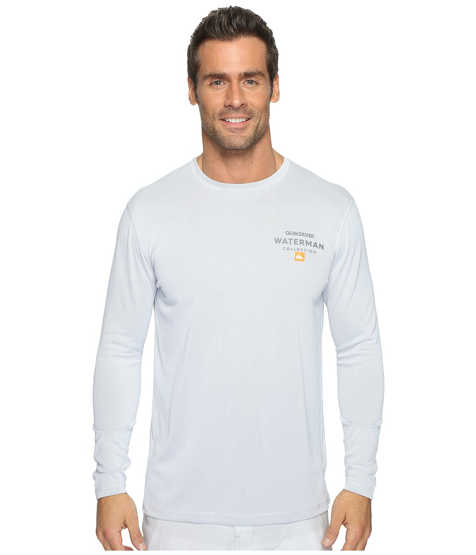 Quiksilver Waterman - Water Marked Long Sleeve Rashguard (White) Men's Clothing
