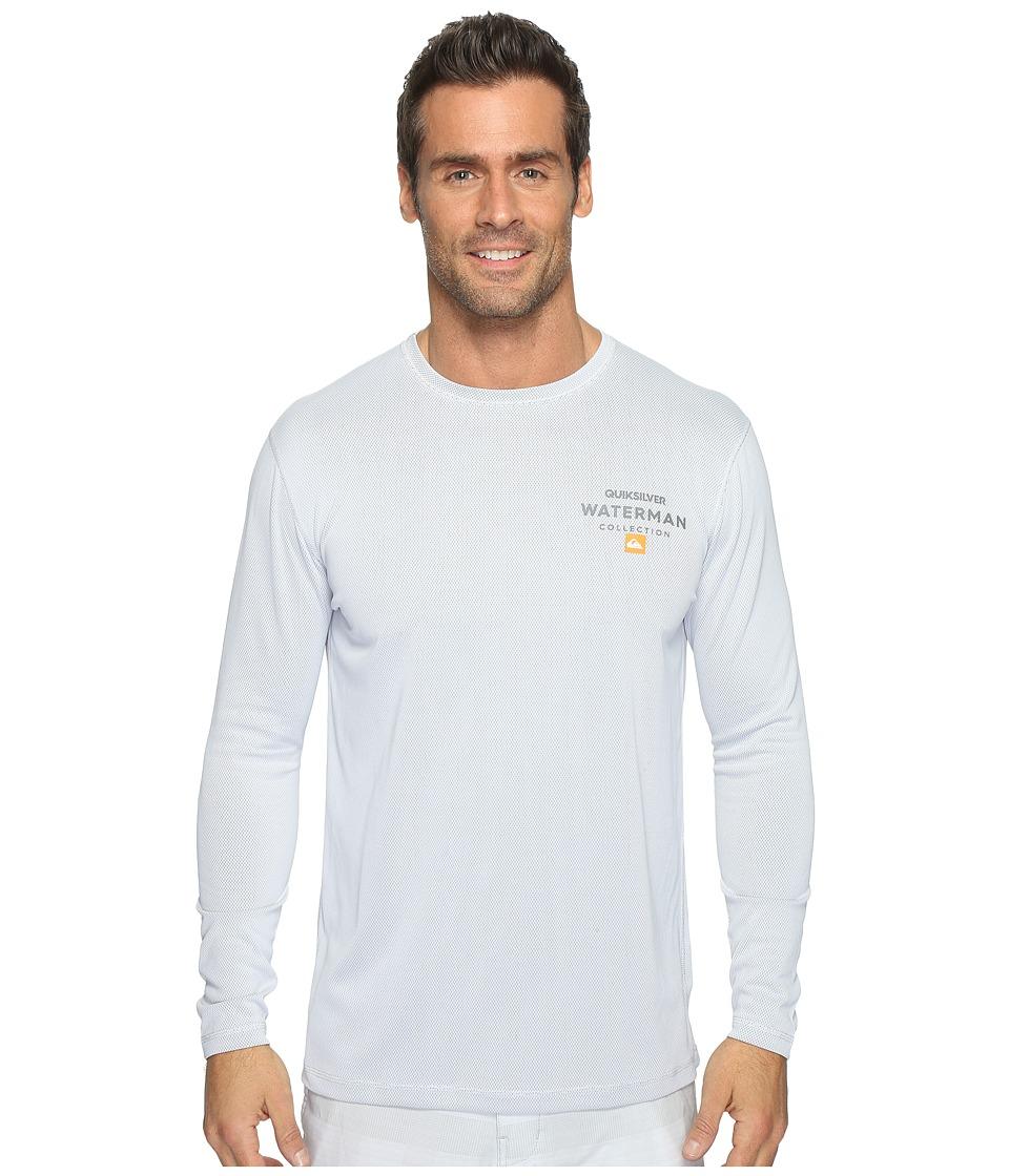 Quiksilver Waterman - Water Marked Long Sleeve Rashguard (White) Men's Clothing