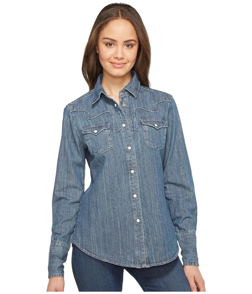 Stetson - Boyfriend Fit Classic Western Shirt (Blue) Women's Clothing