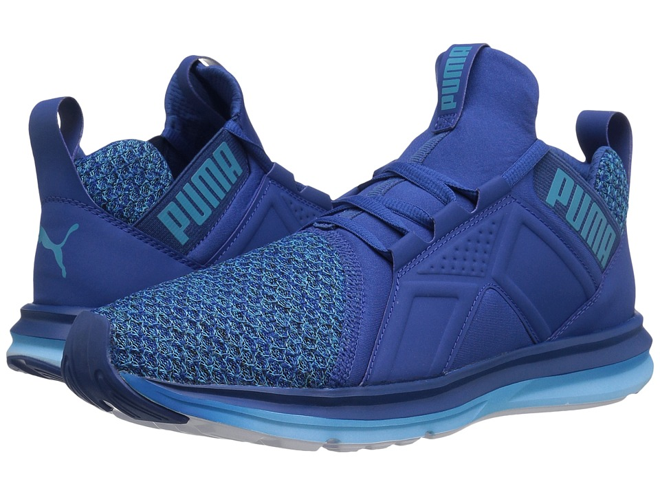 PUMA - Enzo Knit (True Blue/Blue Danube) Men's Running Shoes