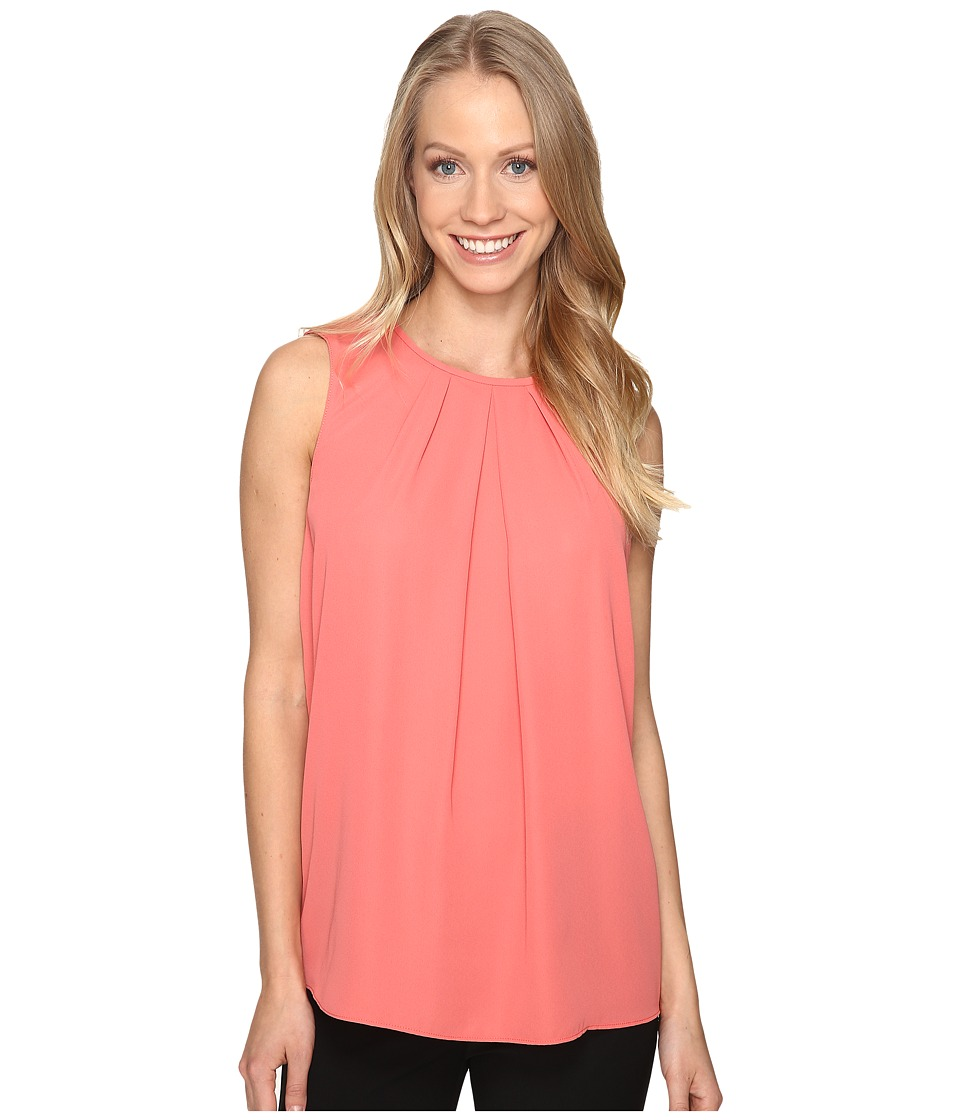 Ellen Tracy - Gathered Neckline Shell (Rose of Sharon) Women's Clothing